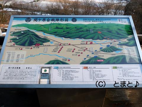 関ケ原合戦陣形図