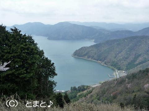 賤ヶ岳山頂から琵琶湖を望む