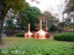 モニュメント 京都ミニブルワリーで使用されていた糖化釜と糖化槽