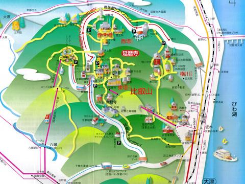 延暦寺イラストマップ