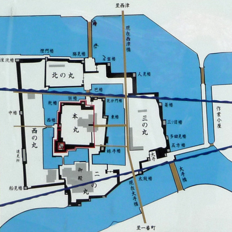 雲浜古城図