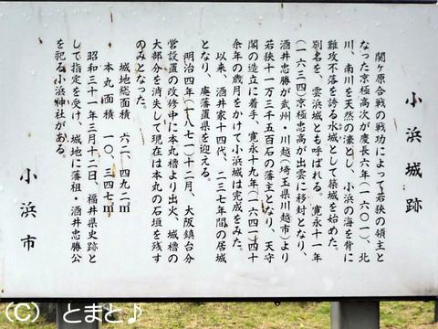 小浜城址説明