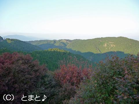 峰道駐車場からの景色