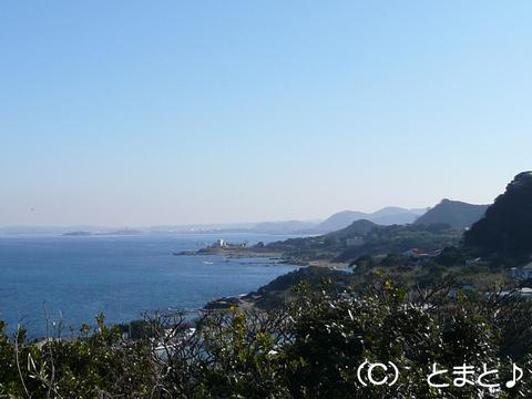 州埼灯台からの景色