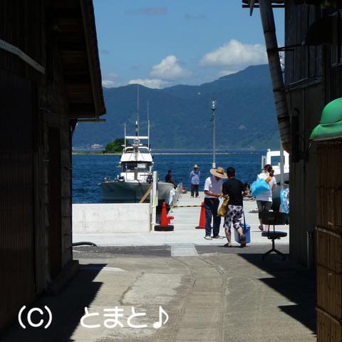 水島への渡し船 乗船場
