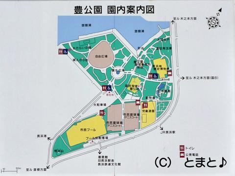 豊公園 園内案内図