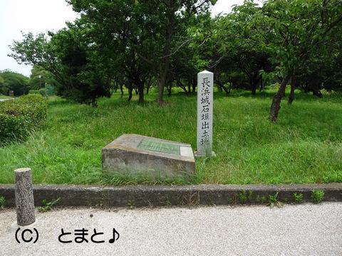 長浜城石垣出土地